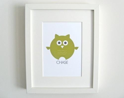 green-owl-print