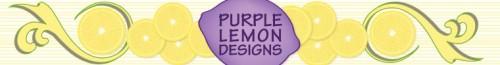 purple lemon banner