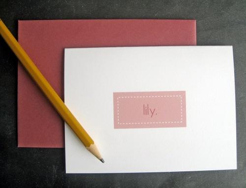 pink name card