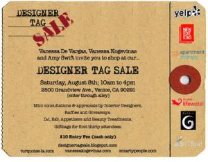 designer tag sale